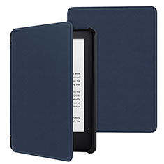 Leather Case Stands Flip Cover Holder for Amazon Kindle 6 inch Blue