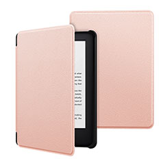 Leather Case Stands Flip Cover Holder for Amazon Kindle 6 inch Pink