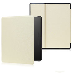 Leather Case Stands Flip Cover Holder for Amazon Kindle Oasis 7 inch Gold