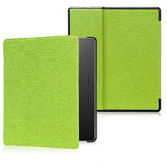 Leather Case Stands Flip Cover Holder for Amazon Kindle Oasis 7 inch Green