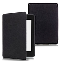 Leather Case Stands Flip Cover Holder for Amazon Kindle Paperwhite 6 inch Black
