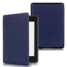 Leather Case Stands Flip Cover Holder for Amazon Kindle Paperwhite 6 inch Blue