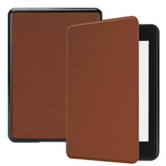 Leather Case Stands Flip Cover Holder for Amazon Kindle Paperwhite 6 inch Brown