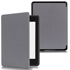 Leather Case Stands Flip Cover Holder for Amazon Kindle Paperwhite 6 inch Gray