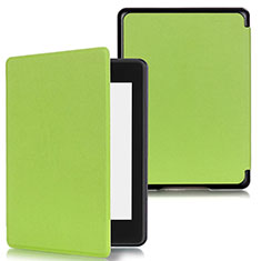 Leather Case Stands Flip Cover Holder for Amazon Kindle Paperwhite 6 inch Green