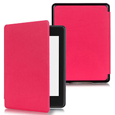 Leather Case Stands Flip Cover Holder for Amazon Kindle Paperwhite 6 inch Hot Pink