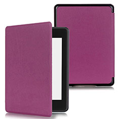 Leather Case Stands Flip Cover Holder for Amazon Kindle Paperwhite 6 inch Purple