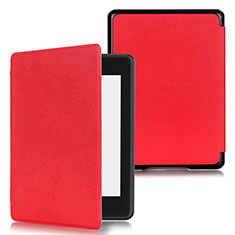 Leather Case Stands Flip Cover Holder for Amazon Kindle Paperwhite 6 inch Red