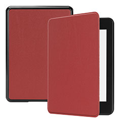 Leather Case Stands Flip Cover Holder for Amazon Kindle Paperwhite 6 inch Red Wine