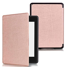 Leather Case Stands Flip Cover Holder for Amazon Kindle Paperwhite 6 inch Rose Gold