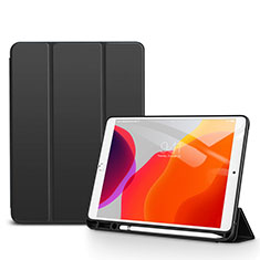 Leather Case Stands Flip Cover Holder for Apple iPad 10.2 (2020) Black