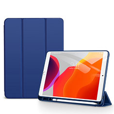 Leather Case Stands Flip Cover Holder for Apple iPad 10.2 (2020) Blue