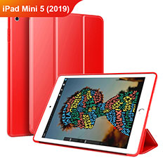 Leather Case Stands Flip Cover Holder for Apple iPad Mini 5 (2019) Red