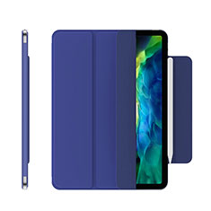 Leather Case Stands Flip Cover Holder for Apple iPad Pro 12.9 (2020) Blue