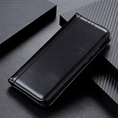 Leather Case Stands Flip Cover Holder for Apple iPhone 12 Black