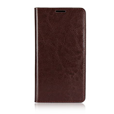 Leather Case Stands Flip Cover Holder for Asus Zenfone 2 Laser 6.0 ZE601KL Brown