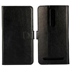 Leather Case Stands Flip Cover Holder for Asus Zenfone 2 ZE551ML ZE550ML Black
