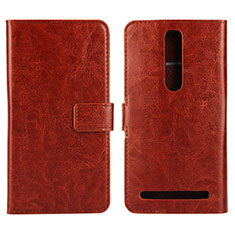 Leather Case Stands Flip Cover Holder for Asus Zenfone 2 ZE551ML ZE550ML Brown