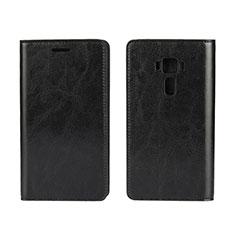Leather Case Stands Flip Cover Holder for Asus Zenfone 3 ZE552KL Black