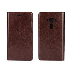 Leather Case Stands Flip Cover Holder for Asus Zenfone 3 ZE552KL Brown