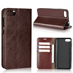 Leather Case Stands Flip Cover Holder for Asus Zenfone 4 Max ZC554KL Brown