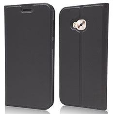 Leather Case Stands Flip Cover Holder for Asus Zenfone 4 Selfie ZD553KL Black