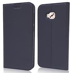 Leather Case Stands Flip Cover Holder for Asus Zenfone 4 Selfie ZD553KL Blue