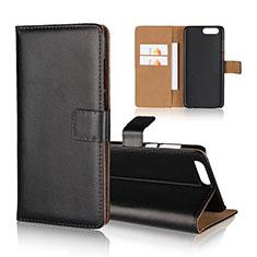 Leather Case Stands Flip Cover Holder for Asus Zenfone 4 ZE554KL Black