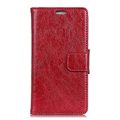 Leather Case Stands Flip Cover Holder for Asus Zenfone 5 ZS620KL Red