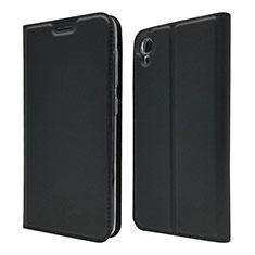 Leather Case Stands Flip Cover Holder for Asus ZenFone Live L1 ZA550KL Black
