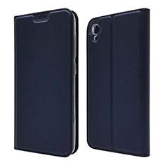 Leather Case Stands Flip Cover Holder for Asus ZenFone Live L1 ZA550KL Blue