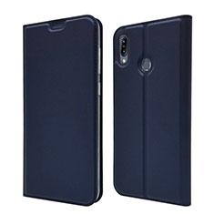 Leather Case Stands Flip Cover Holder for Asus Zenfone Max M2 ZB633KL Blue