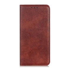 Leather Case Stands Flip Cover Holder for Asus Zenfone Max Plus M2 ZB634KL Brown