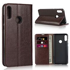 Leather Case Stands Flip Cover Holder for Asus Zenfone Max Pro M2 ZB631KL Brown