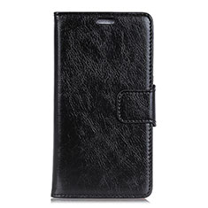 Leather Case Stands Flip Cover Holder for Asus Zenfone Max ZB555KL Black