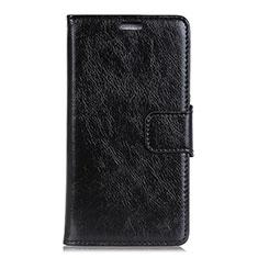 Leather Case Stands Flip Cover Holder for Asus ZenFone V500KL Black