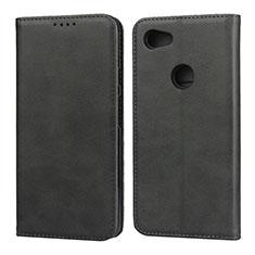 Leather Case Stands Flip Cover Holder for Google Pixel 3a Black