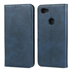 Leather Case Stands Flip Cover Holder for Google Pixel 3a XL Blue