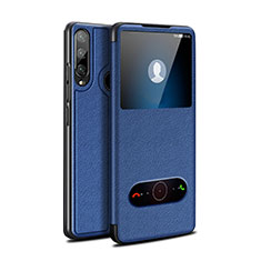 Leather Case Stands Flip Cover Holder for Huawei Enjoy 10 Plus Blue