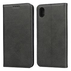 Leather Case Stands Flip Cover Holder for Huawei Enjoy 8S Black