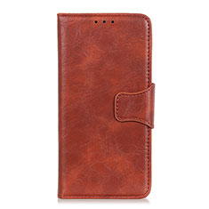 Leather Case Stands Flip Cover Holder for Huawei Honor 9X Lite Brown