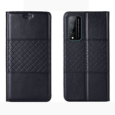 Leather Case Stands Flip Cover Holder for Huawei Honor Play4T Pro Black