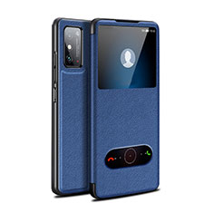 Leather Case Stands Flip Cover Holder for Huawei Honor X10 Max 5G Blue