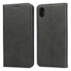 Leather Case Stands Flip Cover Holder for Huawei Y5 (2019) Black