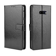 Leather Case Stands Flip Cover Holder for LG G8X ThinQ Black
