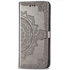 Leather Case Stands Flip Cover Holder for LG Stylo 6 Gray