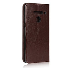 Leather Case Stands Flip Cover Holder for LG V50 ThinQ 5G Brown
