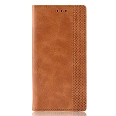 Leather Case Stands Flip Cover Holder for Motorola Moto E6s (2020) Orange
