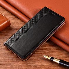 Leather Case Stands Flip Cover Holder for Motorola Moto E7 Plus Black