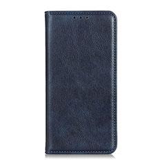 Leather Case Stands Flip Cover Holder for Motorola Moto G Fast Blue